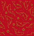 Chinese seamless pattern with ornamental fish vector image