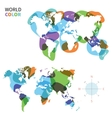 abstract color map world vector image