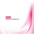 abstract pink waves background vector image