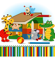 animals built house out bablocks vector image