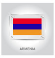 armenia flag design vector image