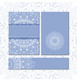 banner templates with mandala pattern vector image vector image