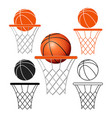 basketball6 vector image vector image