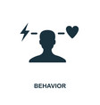 behavior icon monochrome style design from vector image vector image
