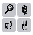 biology and science education line icon vector image vector image