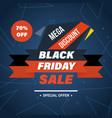 black friday system of discounts for purchase vector image