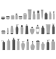 blank cosmetic bottle set vector image vector image