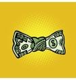 bowtie dollar money vector image vector image