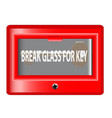 break glass for key vector image vector image