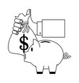 business and money in black and white vector image vector image
