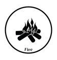 Camping fire icon vector image vector image