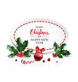 christmas design isolated vector image vector image