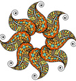 Colored Mandala Pattern vector image