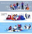 Coworking People Flat Horizontal Banners vector image vector image