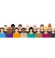 crowd people sitting in rows vector image