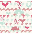 Cute cartoon whale and waves seamless pattern vector image vector image