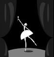 dark scene and white abstract ballet dancer vector image