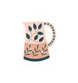 decorative kitchen ceramic pitcher in flat cartoon vector image