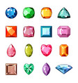 diamond crystal stone and gem or precious vector image vector image