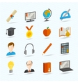 E-learning Flat Icons vector image vector image