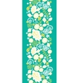 Emerald flowerals vertical seamless pattern vector image