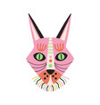 ethnic african tribal mask pink ritual symbol or vector image