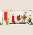 fashion clothes store boutique or shop vector image