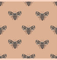 folk art seamless pattern with moths vector image vector image