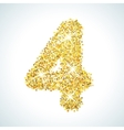 Four number in golden style vector image vector image