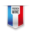 French Wine ribbon vector image