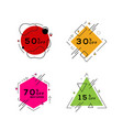 geometric colorful abstract banner badge set vector image