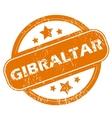 Gibraltar grunge icon vector image vector image
