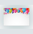 happy birthday greeting card design with confetti vector image vector image