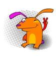 Hip rabbit vector image vector image