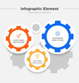 infographic element three gear combination symbol vector image vector image