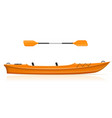 kayak from plastic for fishing and tourism vector image
