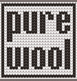 knitted text pure wool in black and white colors vector image