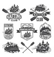 labels for sport club of extreme dangerous water vector image vector image