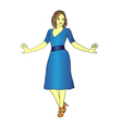 lady stands vector image vector image