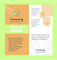 leafs company brochure title page design company vector image