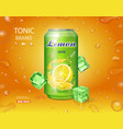 lemon soft drink advertising lemonade can ads vector image vector image
