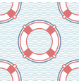 lifebuoy marine seamless pattern vector image vector image