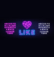 like neon sign social networks design vector image