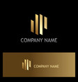 line abstract gold business logo vector image vector image