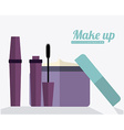 make up desing vector image vector image
