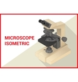 Microscope 3d isometric flat vector image vector image