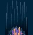 modern cityscape digital vertical template vector image
