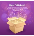 Open box postcard vector image