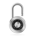 padlock icon on white background vector image vector image