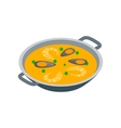 Paella icon isometric 3d style vector image vector image